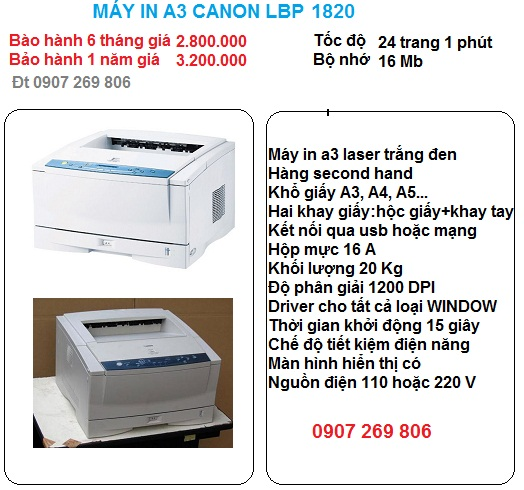 may in a3 canon lbp 1820