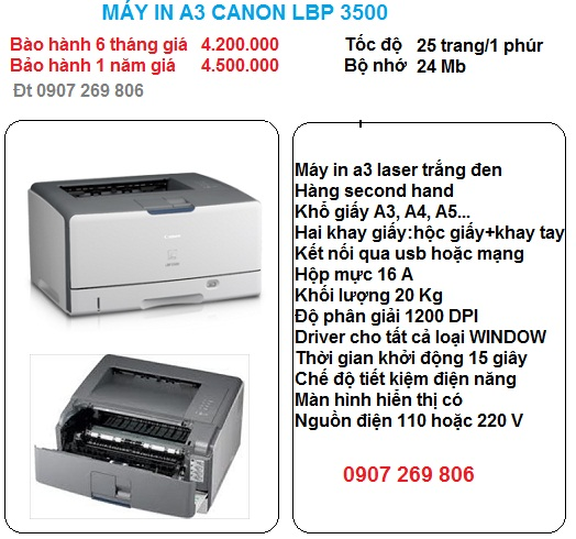 may in a3 canon lbp 3500