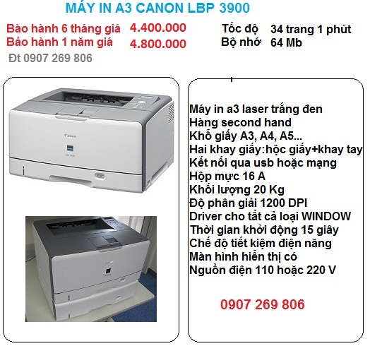 may in a3 canon lbp 3900
