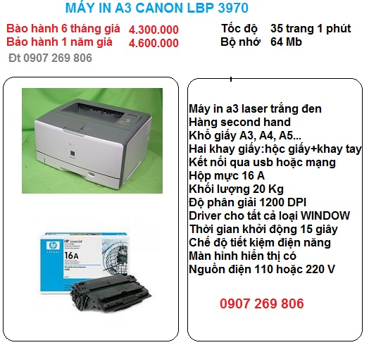 may in a3 canon lbp 3970