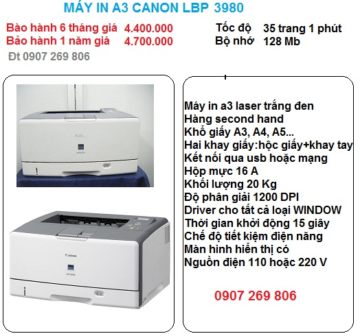 may in a3 canon lbp 3980
