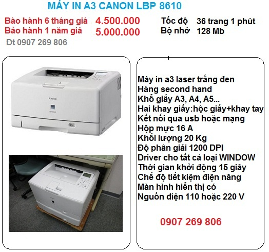May in a3 canon lbp 8610