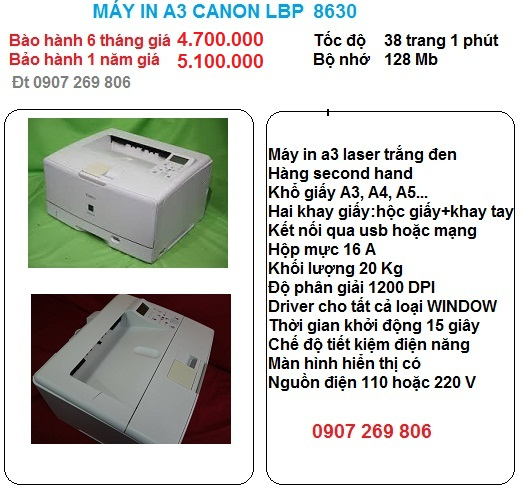 May in a3 canon lbp 8630